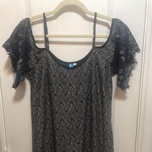 Lace cold shoulder Francesca's dress